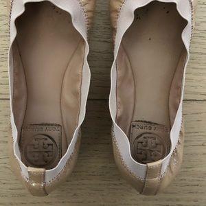 Tory Burch Shoes - TORY BURCH Caroline Camellia Pink Ballet Flats
